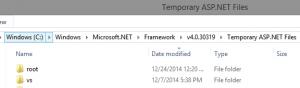 Temporary ASP.NET files folder